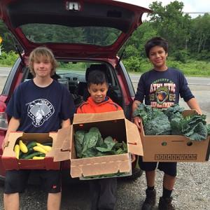 Boys delivering produce July2016