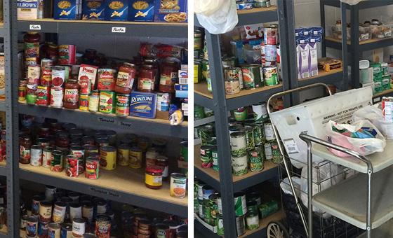 food pantry collage